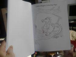 1 Little Dragon colouring page